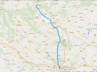 Harta României cu rețeaua națională de centre turistice